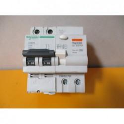 Disjoncteur 2P Schneider C60N + VIGI C60