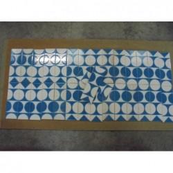 Carreaux rectangulaires motifs bleu et blanc...
