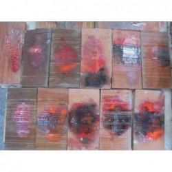 Faïence artisanale rouge strié (10 x 20) - Lot...