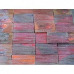 Faïence artisanale rouge flamé (10 x 22) - Lot...