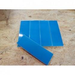 Faïence rectangulaire bleue ( 6.50 x 20) - lot...