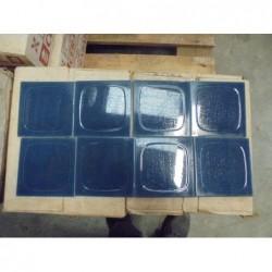 Faïence Bleu paon (10.80 x10.80)- Lot de 12 m²