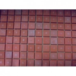 Mosaique en plaque (50x50) orange (Lot de 7,75 m²)