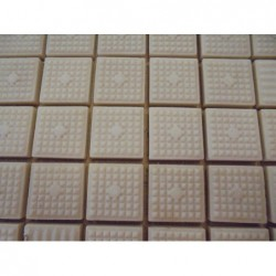 Mosaique en plaque (50x50) Beige carrée (Lot de...