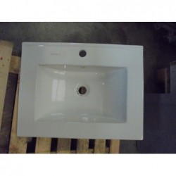 Evier vasque rectangulaire blanc