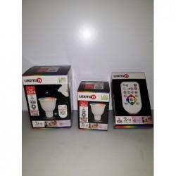"""Spot GU10 """"Coloré"""" avec télécommande"""