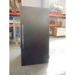 Porte pleine en bois laminé noire